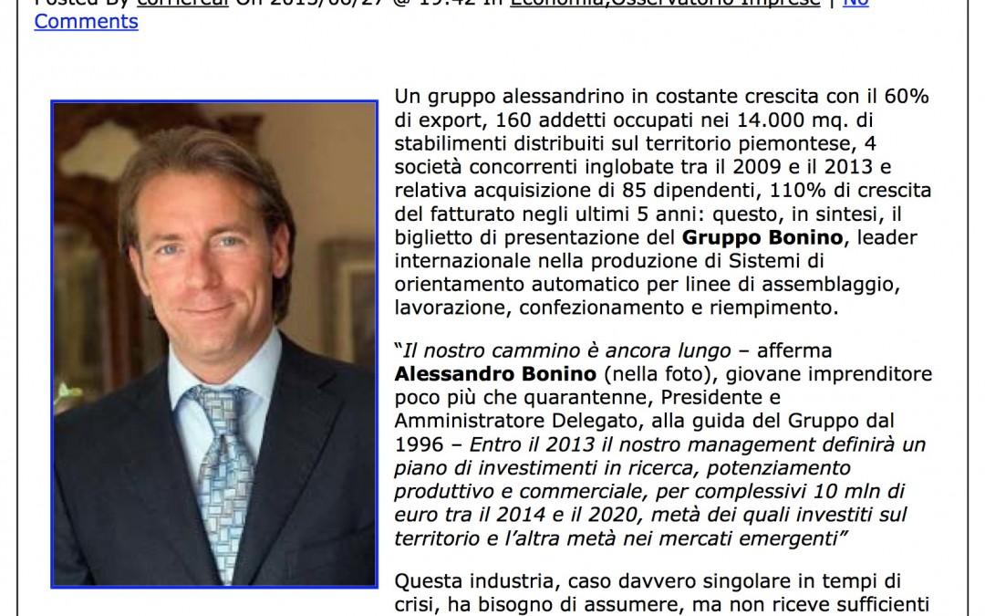 """CorriereAL – Gruppo Bonino """"dobbiamo assumere, ma è difficile trovare personale"""""""