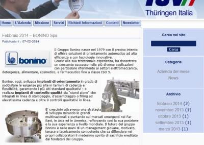 Sito webTUV – Azienda del mese Febbraio 2014